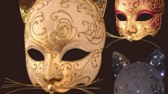 Как сделать маску кошки из картона