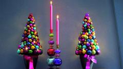 Как сделать новогоднюю елку из елочных шаров
