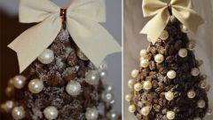 Как сделать новогоднюю елку из кофейных зерен