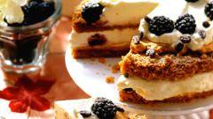 Кофейно-миндальный торт