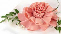Как сделать розу из колбасы