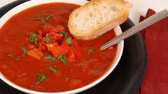 Как приготовить томатный суп гаспачо