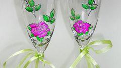 Как украсить бокалы на свадьбу своими руками