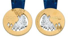 Олимпийская медаль Сочи-2014