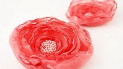 Как сделать цветы из шифона