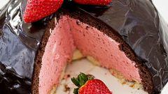 Торт с клубничным муссом