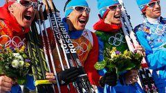 Сборная России выиграла серебро в лыжной эстафете