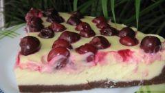 Вишнево-творожный тарт