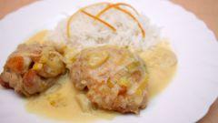 Цыпленок в сметанном соусе