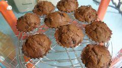 Шоколадные кексики в аэрогриле