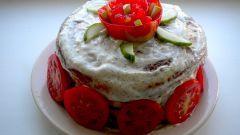 Пестрый торт из кабачков