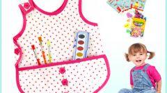 Как сшить фартук для юного художника