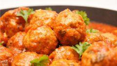 Мясные шарики по-индийски с апельсиновым соусом