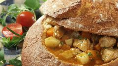 Как приготовить наваристый суп в хлебе