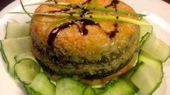 Японский торт из лосося