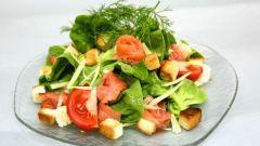 Рецепт салата из соленой семги