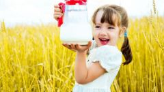 At what age a child may be given milk from shops