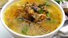 Как сварить суп с фаршем