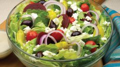 Рецепты салатов с брынзой