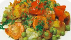 How to cook vegetable stew of zucchini, potatoes and tomatoes