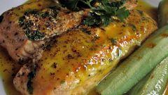 Как приготовить маринованное филе лосося в горчичном соусе