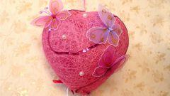 Как сделать сердце из ниток