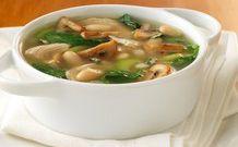 Постный суп из сушеных грибов с клецками