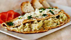 Как приготовить омлет с капустой