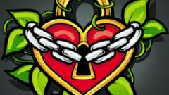 Как нарисовать сердце-замок с цепью поэтапно