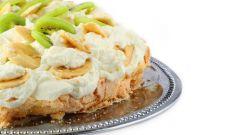 Торт безе с банановым кремом