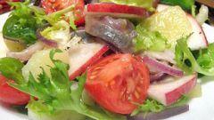 Яблочный салат с сельдью