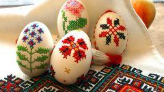 Вышивка на яичной скорлупе - оригинальная идея к Пасхе