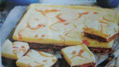 Творожный пирог с мраморным узором