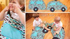 """Как сшить детский коврик """"Машинка"""""""