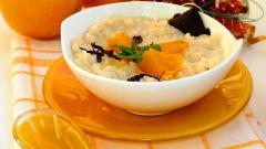 Рисовая каша на топленом молоке с мандаринами «Идеальное утро»