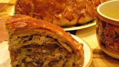 Король пирогов – курник из слоеного теста