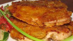 Сырная курица с сухариками