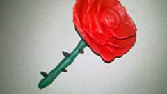 Как просто сделать розу из пластилина
