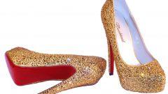 Как сделать золотые туфли за пять минут