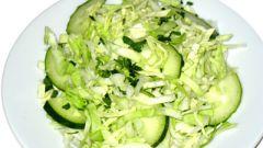 Как приготовить нежный салат из свежей капусты