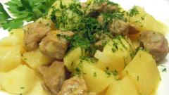 Как готовить картошку с мясом в казане