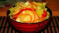 Как приготовить острую закуску из капусты с чесноком