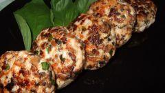 Рубленые куриные котлеты с грибами