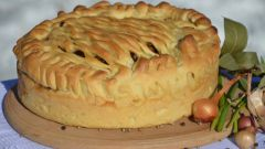 Пирог с капустой и сайрой