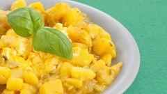 Как приготовить картофельное рагу с омлетом