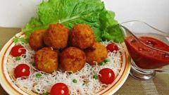 Постные аранчини - рисовые шарики с начинкой