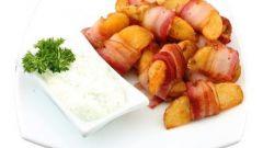 Как приготовить рулетики из бекона с картофелем