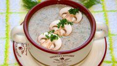 Легкий крем-суп из шампиньонов