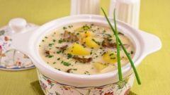 Как приготовить сырный суп с белыми грибами