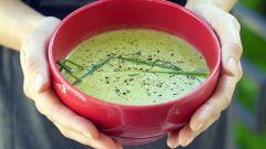 Мятный крем-суп из кукурузы и горошка